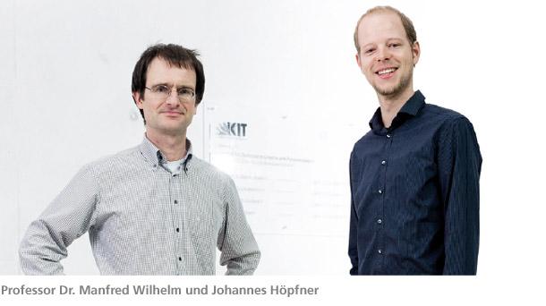 Prof. Fr. Manfred Wilhelm und Johannes Höpfner